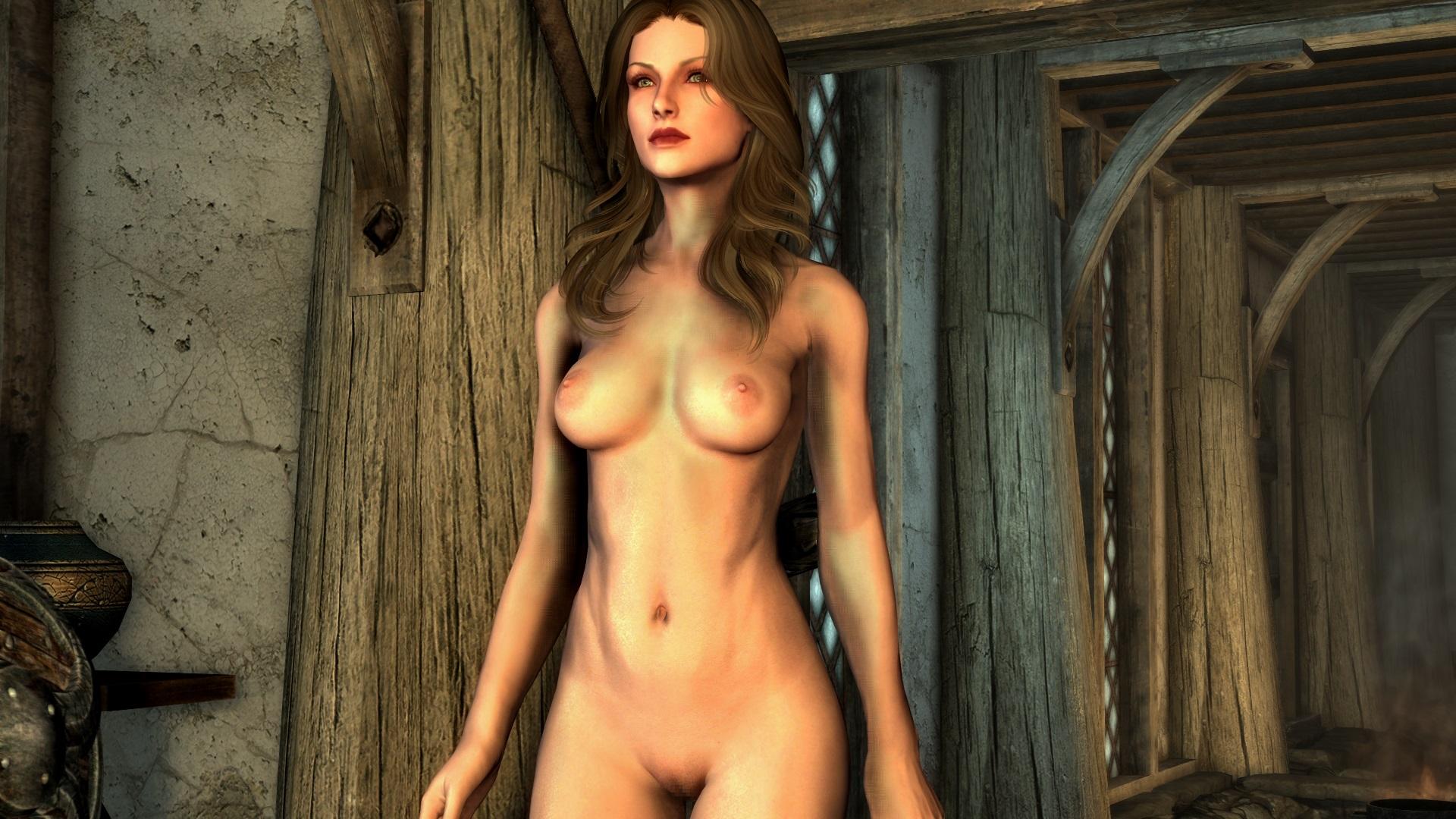 Skyrim Special Edition パフィーニップルとアレの修正。